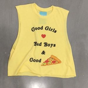 The Laundry Room Yellow Crop Muscle Tank